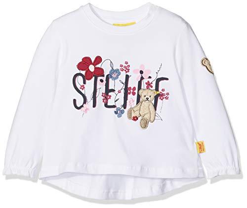 Steiff Steiff Baby-Mädchen T-Shirt 1/1 Arm Langarmshirt, Weiß (Bright White 1000), 80