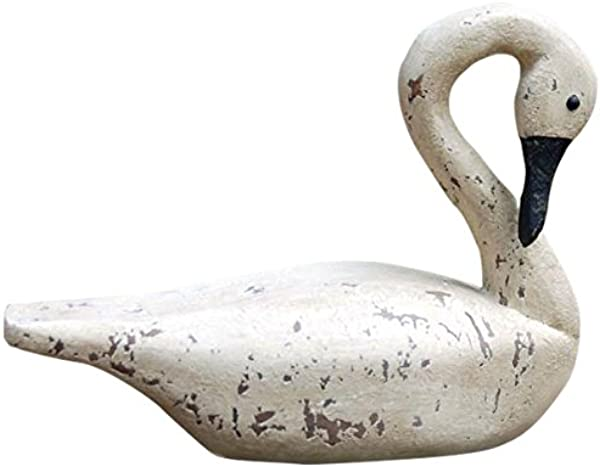 Hickory Manor House Vintage Blanc Emerald Isle Swan For Home Decor 22 Inch