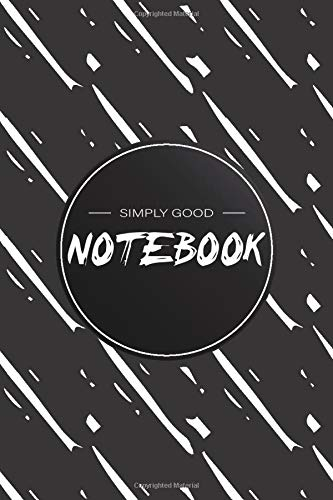 Notebook: Black and White Buisness Notebook, Simple Good Notebook, Journal, Diary (110 Pages, Blank, 6 x 9)