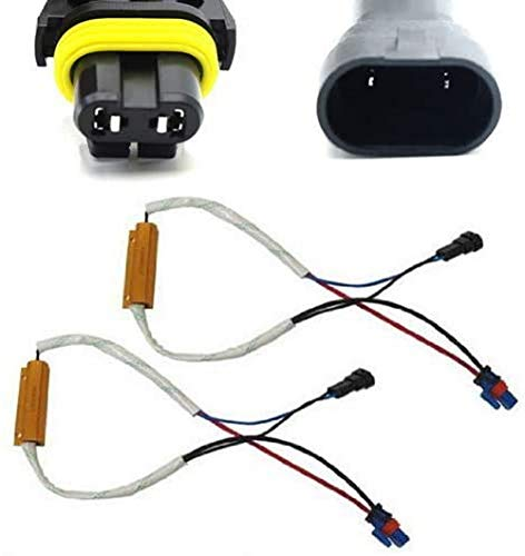 iJDMTOY Plug-N-Play Error Free Decoder Wiring Kit Compatible with 9005 or 9006 LED Bulbs on Fog Lights or Daytime Running Lights