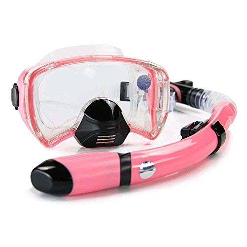 MIAO Kit de snorkel Espejo Snorkel trajes de silicona de vidrio templado Adulto masculino y femenino Equipo de buceo