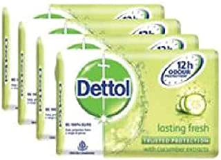 Dettol Bar Soap Lasting Fresh 4x105g- Keeps You Germ Free,soap is Also Very Gentle on The Skin