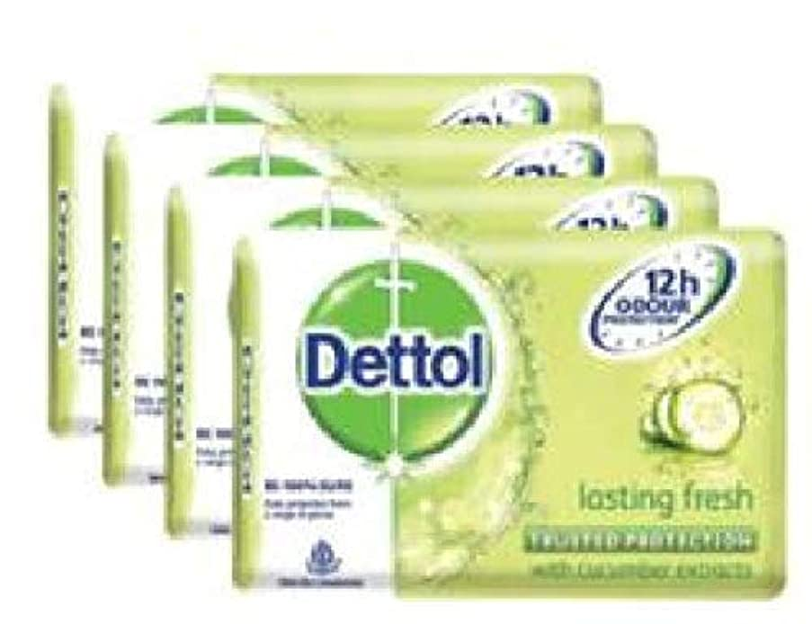 若い真似る検出器Dettol 新鮮4x105g-を持続固形石鹸は、あなたが自由生殖続け、石鹸は肌にもとても優しいです