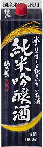 福徳長 米だけのす-っと飲めてやさしいお酒 純米吟醸酒 パック [ 日本酒 山梨県 1800ml ]