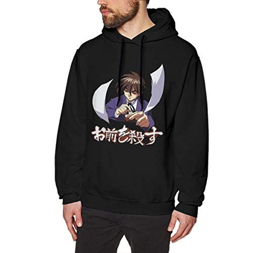 NZ Ich werde Dich töten Herren Pullover Hoodies Crewneck Langarm Sweatshirt Schwarz