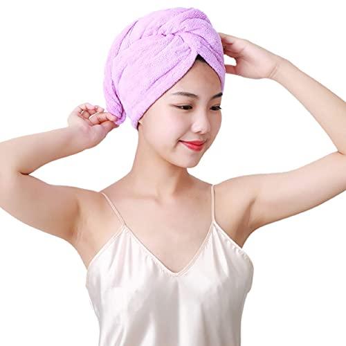 N\C XIKUO Toalla para el Cabello de Microfibra súper Absorbente Toalla para el Cabello Twist Toallas de Ducha Suaves para Mujeres para el Cabello Turbante Wrap Gorro de Secado Gran Regalo para Damas.