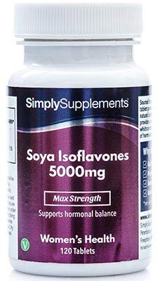 SOYA Isoflavones 5000mg | Now with Added Vitamin B6 for Hormonal Balance | Potent One-a-Day Formula | 120 Tablets = 4 Month Supply | Manufactured in The UK
