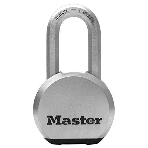 Master Lock M930EURDLH Candado Alta Seguridad Llave Acero Inoxidable Exterior,Adecuado para Portales, Garages, Sótanos, plateado, 64mm