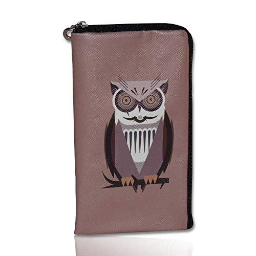 Soft Case Handy Tasche mit Reißverschluss für Samsung Galaxy S3 Neo - S4 - S5 - J1 - J3 - A3 - Apple iPhone 6s- Schutzhülle Eule L