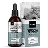 Animigo Desparasitación Interna Perros y Gatos 120ml - Antiparasitario 100% Natural para Higiene Intestinal