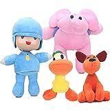 4pcs Set Pocoyo Elly Pato Loula Plush Doll Figures Toy 6' - 10'