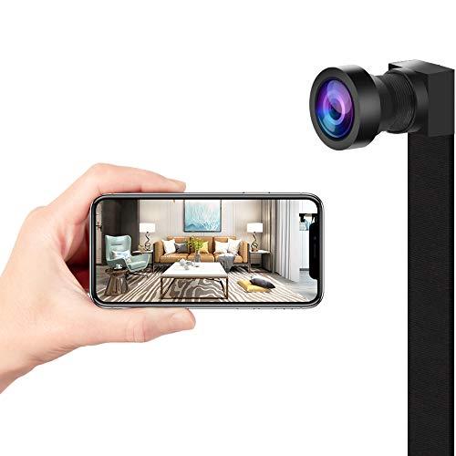 Cámara espía con WiFi, cámara de vigilancia Interna, visión Nocturna/detección de Movimiento IP cámara de Seguridad portátil para iPhone Android