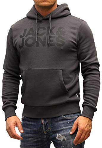 Jack & Jones Jjecorp Sweat à capuche avec logo - pour homme - Gris - Medium