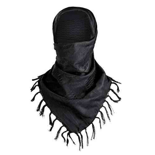 FREE SOLDIER 100% Coton Shemagh Militaire Keffieh Tactique Desert Keffieh Shemagh Foulard pour Homme et Femme(Noir Camouflage)