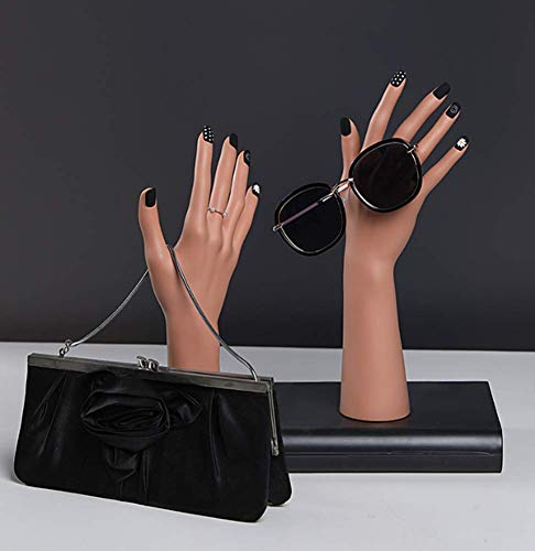 TYPING Maniquí Mano Collar De Soporte De Exhibición Práctica para La Manicura del Guante De Exhibición De La Joyería ABS Mano Derecha E Izquierda Alacena Cuarto 29/36cm,B