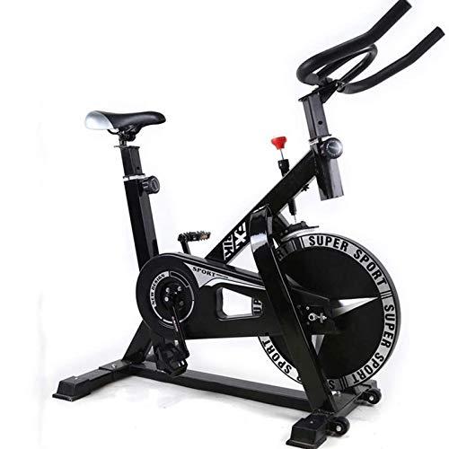 WJFXJQ Bicicleta de Ciclismo Interior, Bicicleta de Ejercicios, Bicicleta estacionaria para Entrenamiento en Bicicleta de Entrenamiento de Cardio en casa, con cómodo cojín de Asiento y Volante Pesado