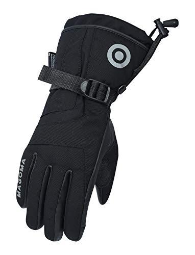 MAGOMA Guantes de moto Bowery 3M Thinsulate-Hipora, negro, XL
