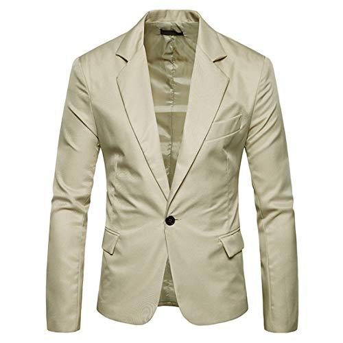 YUPENG Men Suit Slim Fit Jacket Wedding and Party Business Casual One Button Suit Blazer Regular Fit Blazer Men Tops XL