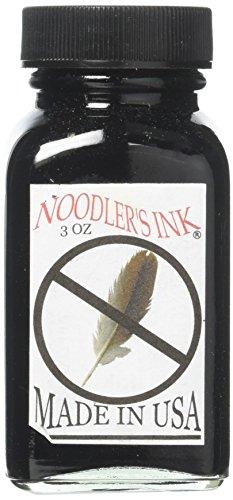 Tinta Noodler's Ink, tinta para caneta-tinteiro, tinta para garrafa, multicolorido e várias funções, Preto