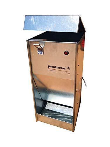 Comedero automático para perros profesional programable de 40 litros de capacidad. valido para exterior.
