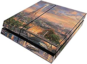 Paris City of Love Skin Compatible with Sony Playstation 4 System - Ultra Thin Protective Vinyl Decal wrap Cover