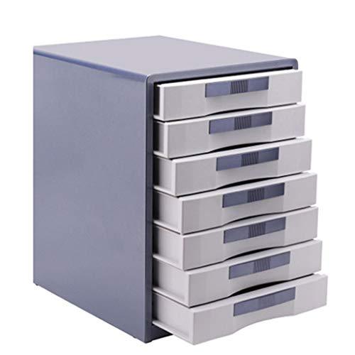 Pared pintura Archivador Organizador de Oficina Caja de Almacenamiento de Datos de clasificación de Archivos metálicos de Escritorio A4 de 7 cajones 30X35X41cm librero (Color : Gold)