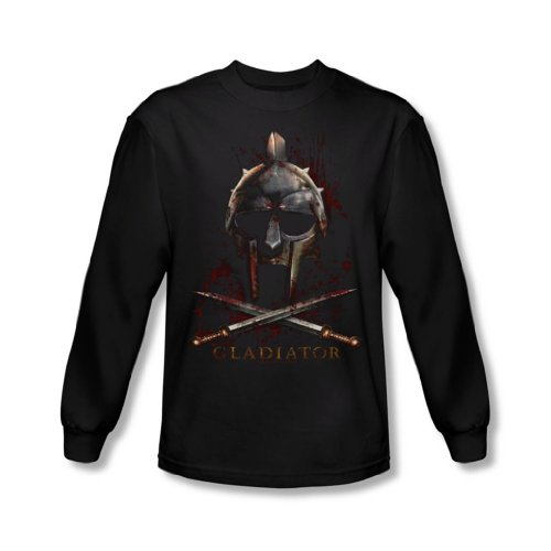 Gladiator - Casque shirt manches longues Men In Black -, Large, Black