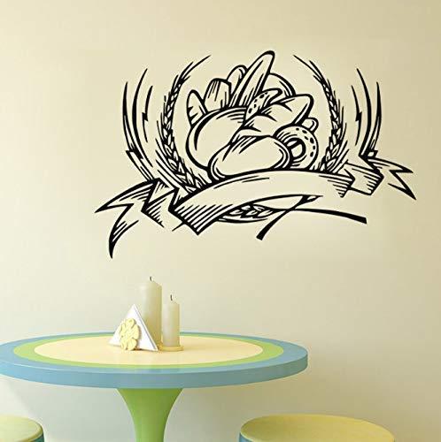 Adhesivo De Pared Para Decoración De Panadería, Adhesivo Para Azulejos De Cocina, Adhesivo Impermeable Para Pared De Pan Para Panadería, 44Cm X 68Cm