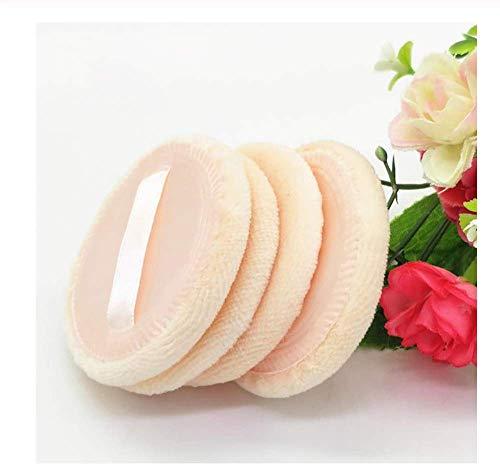 KUSAWE Éponge de maquillage 6PCS Women Beauty Round Face Body Powder Puff with Ribbon Pure Cotton Soft Facial Cosmetic Makeup Foundation Sponge Dry Use A