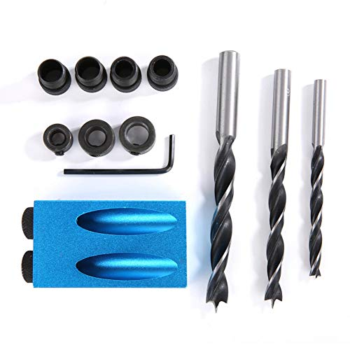 Pocket Hole Jig Drill Guide Kit, for Woodworking, Carpentry Tool DIY Carpentry Tools Oblique Hole Positioner,