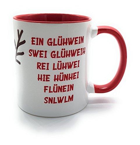 Tasse EIN Glühwein. mit Rentier, lustiger Spruch, Weihnachten, Punsch, Glühweinbecher, Weihnachtsmarkt, Punschtasse inkl Geschenkverpackung