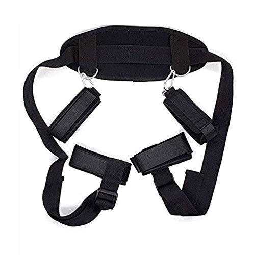 Yoga Pillow Sportswear es cómoda y ajustable, elástica, tobillos y muñecas para juegos nocturnos de hombres y mujeres (Negro)