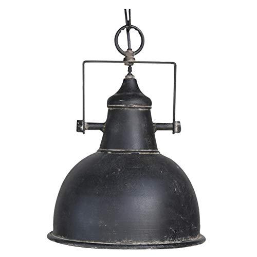 Vintage Deckenlampe Factory Industrielampe antik schwarz Hängeleuchte Retro Industrie-Design Shabby, H26/D24 cm