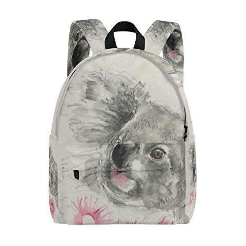 MALPLENA sac à dos pour homme Animal Koala Rose Fleur Sac de voyage Sac d'école
