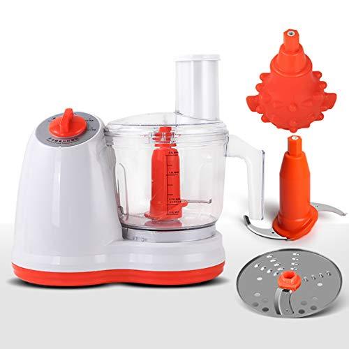 A Machine Multifonctions pour Robot culinaire électrique 500W Mélangeur de Cuisine Hachoir déchiqueteuse râpe trancheuse 2 Vitesses et contrôle du pouls pour la Viande, Les légumes et Les Fruits