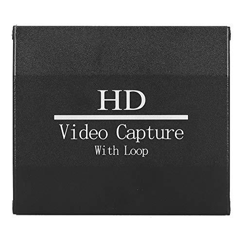 PUSOKEI Tarjeta de Captura de TV 1080P 4K, Tarjeta de Captura de Video HD 1080p 4k hdmi Tarjeta de Captura de Video Hdmi a USB 2.0 para grabación de Juegos Transmisión en Vivo de TV