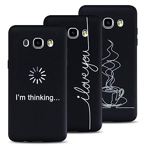 FroFine - Carcasa de Silicona para Samsung Galaxy J3 2017 (3 Unidades), Color Negro