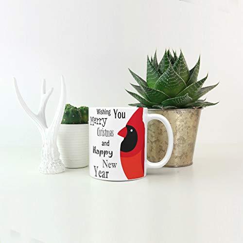 O5KFD & 8 11 oz Red Spatz dranken, cacao beker met handvat keramiek personaliseerbaar beker - Vrolijk nieuw jaar jongens mannen cadeaus, pak voor restaurant gebruiken