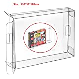 CHILDMORY 10Pcs Clear Box Funda CIB Protector para Nintendo SNES N64 Juegos Cartucho Box