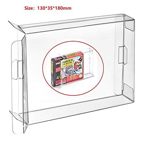 CHILDMORY 10Pcs Clear Box Funda CIB Protector para Nintendo SNES N64 Juegos Cartucho Box