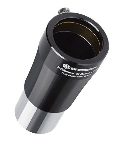 Bresser Teleskop Barlow Linse (5-fach (31,7mm 1.25 Zoll) zur Verfünffachung der Brennweite eines Teleskopes, mit vollvergüteter 3-linsiger Optik)