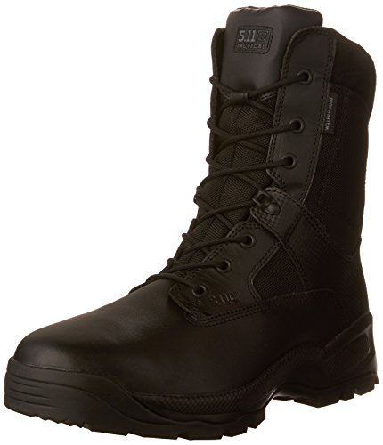 5.11 Tactical Men's A.T.A.C. 2.0 Waterproof Military Storm Boots, Slip Resistant Outsole, Black, 41 EU, Style 12004
