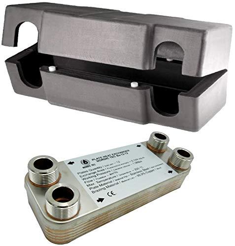 SCAMBIATORE di calore a piastre NORDIC TEC Ba-12-12 - 0,144m² - 25kW + Isolamento