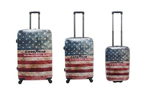 Goodyear Authentic G001H0.17.09 Set di 3 valigie, Multicolore