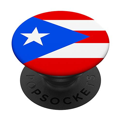 Puerto Rico Patriotism Inspired Puerto Rican Flag Design PopSockets Swappable PopGrip