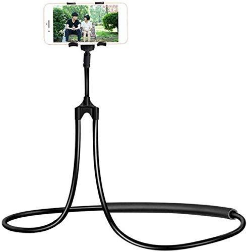 WJXBoos Soporte para teléfono celular para colgar en el cuello, soporte flexible para teléfono celular, brazo largo perezoso DIY 360° giratorio de cuello de cisne (color naranja)