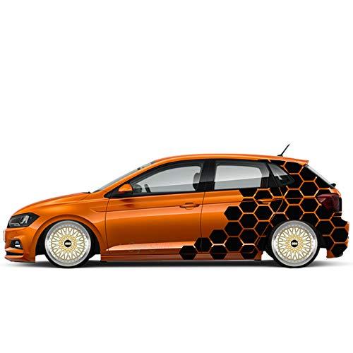 Auto Aufkleber WABEN Rauten Seitenaufkleber Decor Auto Motorhaube Motive Camo Style Waben Rauten Aufkleber Tuning Sticker