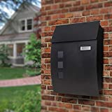 Post Boxes Wall Mounted Lockable Black Post Box Mail Boxes