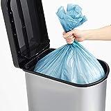 Rotho Paso Mülleimer 50l mit Deckel, Kunststoff (PP) BPA-frei, silber metallic, 50l (44,0 x 29,0 x 67,0 cm) - 2