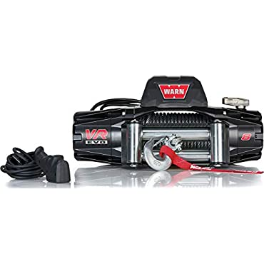 WARN 103250 VR EVO 8 Standard Duty Winch with Steel Cable 8,000 lb. Capacity